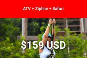 ATV + Zipline + Safari