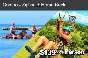 ZIPLINE + Horse Back Tour